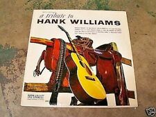 A TRIBUTE TO HANK WILLIAMS BY RUSTY HARRIS LP VINYL RECORD ALBUM DIPLOMAT
