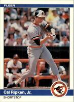 1984 Fleer Baltimore Orioles Baseball Card #17 Cal Ripken