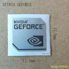 NVIDIA GEFORCE Sticker 17.5mm x 17.5mm - Silver Color