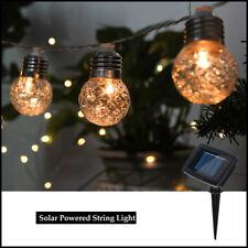 Solar Power Glass Hanging Lamp Ball Light Garden Landscape Tree Hanging Light