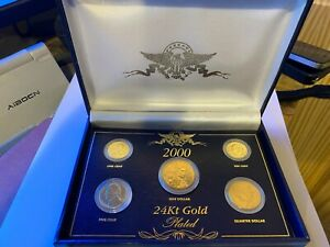 2000 Presidential Collection 24kt gold plated coin set