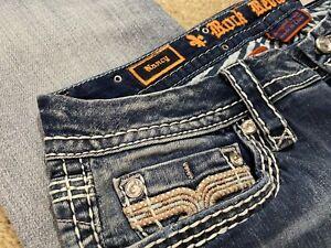 Rock Revival Nancy Easy Straight E8536EJ9L Denim women jeans size 32 X 34 - NEW