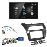 Kenwood DMX110BT Radio + Honda Civic ab 2006 2-DIN Blende schwarz + LFB-Adapter