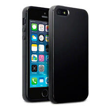 Slim Solid Black in gomma TPU gel Jelly Case Cover per Apple iPhone 5/5S/SE