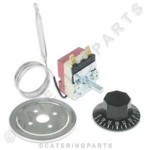 BAIN MARIE HOT CUPBOARD TEMPERATURE CONTROL THERMOSTAT KIT 30-110°C 16amp 16a