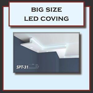 BIG SIZE XPS POLYSTYRENE LED INDIRECT UPLIGHTER COVING CORNICE LIGHTWEIGHT