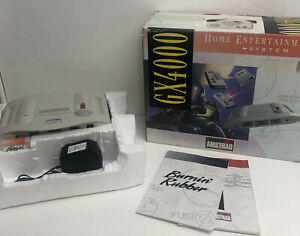BOXED AMSTRAD GX4000 CONSOLE BURNIN RUBBER RACING GAME RETRO VINTAGE TESTED