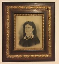 Antique Picture Frame Wood Gold Wall Decor Print Heavy