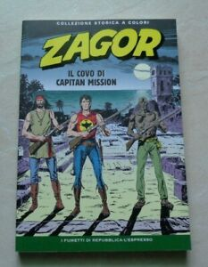 """ZAGOR """"IL COVO DI CAPITAN MISSION"""" COLLEZIONE STORICA A COLORI N°211"""