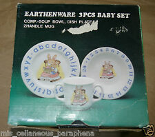 Regal Bowl, Plate & Mug Set - Bunnies Abc & Numerals - Bunny Letters & Numbers