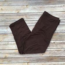 Solid Brown CAPRI Women's Leggings PS Plus Size 12-18 Super Soft