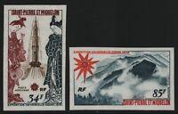 St. Pierre & Miquelon 1970 - Mi-Nr. 453-454 ** - MNH - ungez. / imp - Osaka (I)