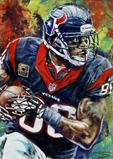 Andre Johnson Autographed Limited Edition Fine Art Print Signed Texas Miami
