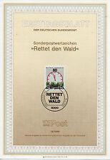 Alemania Hojita Primer Día protección de la Flora año 1985 (CS-111)