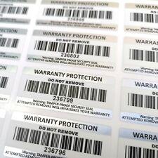 Tamper Proof Stickers Warranty Void Barcode Labels 45mm x 20mm Tamper Evident