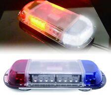34 LED White Amber Light Emergency Warning Strobe Flash Yellow Magnetic Roof