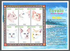 Tuvalu, Sc #0839, Mnh, 2000, S/S, Cats, Taboy, Balinese, Persian, Ca277F