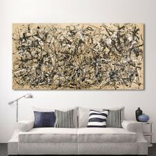 Jackson-Pollock abstract expressionism HD Print on Canvas Wall Picture Multisize