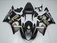 Verkleidung Lacksatz ABS Fairing Bodywork Fü Suzuki GSX-R1000 03-04 Schwarz Gold
