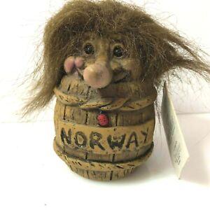 Genuine Vintage Norwegian Tusse Troll  tagged