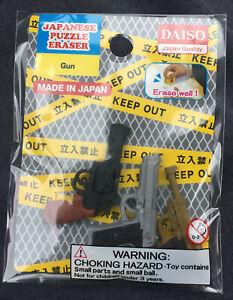 Daiso Collection: Japanese Puzzle Gun Eraser New Made In Japan Iwako Free Ship