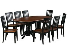 """Dinette Dining Room Table Set 42""""X78"""" W. Soft Wooden Seat In Black Cherry"""