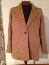 MADEWELL Brushweave Cocoon Coat $285 Camel Brown B5299 Wool size 8 NEW
