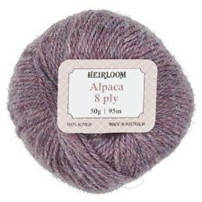 Heirloom- Alpaca 8 Ply Yarn 50g Ball #969 Tea Rose