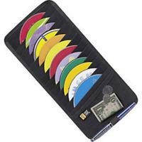 Car Sun Visor CD DVD Card Case Storage Holder Disc Organizer Universal Fit Black