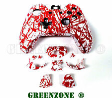 Blood Splatter Xbox One Replacement Controller Shell Mod Kit Buttons Mod Kit