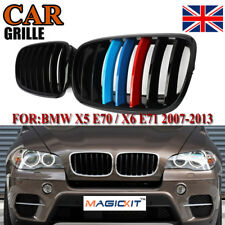 2x Shiny Black M Color Front Kidney Grill Grille for BMW E70 E71 X5 X6 SUV 07-13