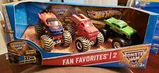 Mattel Hot Wheels Monster Jam Fan Favorites 2 with DVD 2012 Superman Avenger +