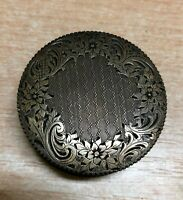 Antique powder compact silver marked