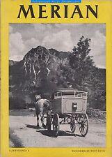 Wunderbare Postreise von H.Leippe-MERIAN Heft 6 1952 Hoffmann & Campe