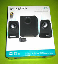 Logitech z213 Multimedia Speakers Full Bass Compact Computer Laptop 7W 14W