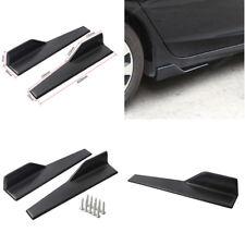 Universal Car Side Skirt Extensions Rocker Panel Splitters Black Color