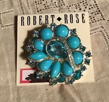 Pin By Robert Rose New Aqua Stone Brouch