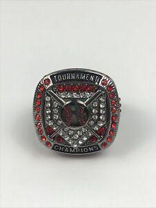 New Baseball Tournament Champion Ring SZ 8.5 Red Rhinestones