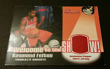 Raymond Felton Bobcats Carolina Del Norte 2005 Bowman Game Worn Camiseta
