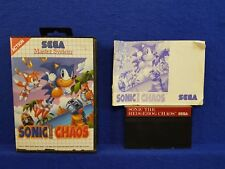 Sega Master System SONIC THE HEDGEHOG CHAOS Game *x*y BOXED COMPLETE PAL