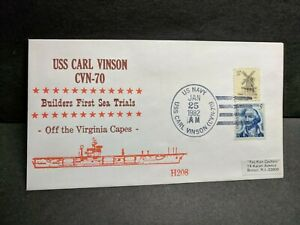 USS CARL VINSON CVN-70 Naval Cover 1982 HOFFNER #H208 SEA TRIALS Cachet
