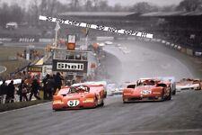 9x6 Photograph  Ickx Ferrari / Stommelen  Alfa Romeo , Brands Hatch 1000kms 1971