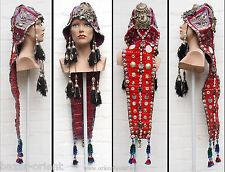 Antik afghan hochzeit Kopfschmuck Kohistan woman headdress hat cap Nuristan Nr A