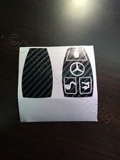 Carbon Schwarz 4D Folie Dekor Schlüssel Mercedes C E AMG Brabus W204 CLK W209  W
