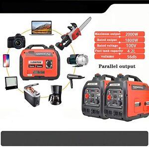 Gasoline Generator 2000W Quiet Household Portable Electric Start Inverter Engine