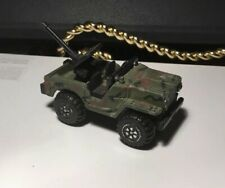 """2"""" DIE CAST US MILITARY JEEP WITH CANNON IN BACK"""