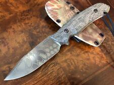 Attleboro Knives THE ATTLEBORO Plain Edge - Kryptek Green Mandrake Kydex Sheath