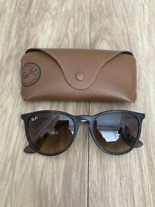 Ray-Ban Erika RB4171 710/T5 54-18 Women's Sunglasses Used Tortoise Shell Brown