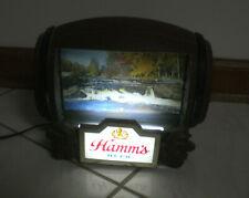 Hamm'S Beer Barrel Rotating Flip Motion Electric Sign - Vintage
