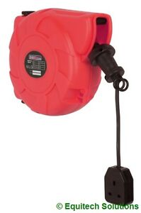 Sealey  CRM101 10m Cable Reel Retractable System 1 x 230V Socket Extension